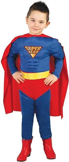 Guirca - Disfraz de Superman, talla 5-6 años, color azul (82670 ...
