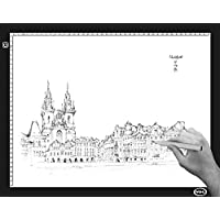 WGHL Led Light Pad A2/A3/A4 Size Tracing Light Box/Light Table Super Bright with Adjustable Light Intensity for Tattoo, Animation, Sketching, Designing, Stenciling and X-ray (A4)