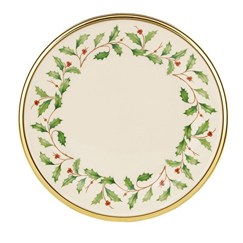 Lenox Holiday Butter Plate,Ivory and Platinum (China Bread Plate)
