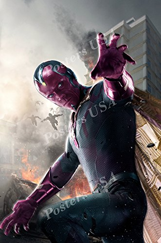 (Posters USA - Marvel Avengers Age of Ultron Vision Textless Movie Poster GLOSSY FINISH - FIL251 (24
