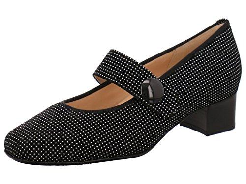 Hassia 303376-0100 - Zapatos de vestir de Piel para mujer Negro - negro / blanco