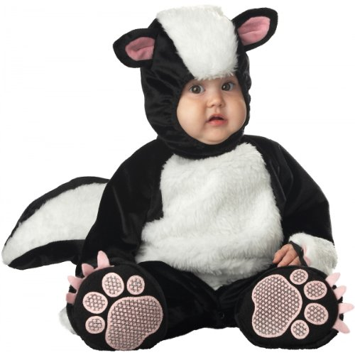 InCharacter Costumes Baby's Lil' Stinker Skunk Costume, Black/White/Pink, 6-12 Months -