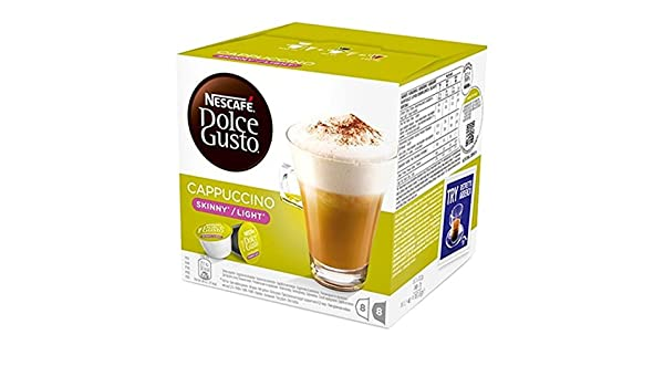 Cápsulas Leche y Caffe Nescafe Dolce Gusto Cappuccino Skinny Light: Amazon.es: Alimentación y bebidas