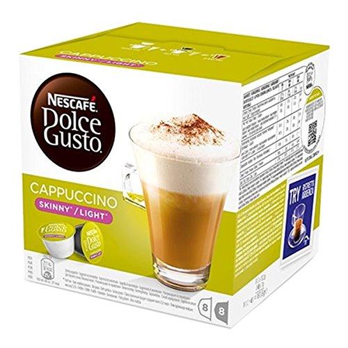 Cápsulas Leche y Caffe Nescafe Dolce Gusto Cappuccino Skinny Light