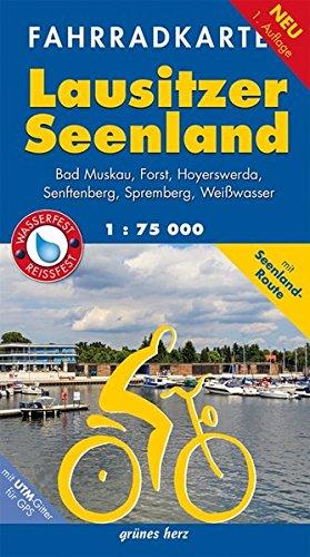 Fahrradkarte Lausitzer Seenland: Mit Bad Muskau, Forst, Hoyerswerda, Senftenberg, Spremberg, Weißwasser.Mit UTM-Gitter für GPS. Maßstab 1:75.000. ... Wasser- und reißfest. (Fahrradkarten) Landkarte – Folded Map, 6. Juni 2016 grünes herz 3866361890 Branden