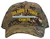 USS Harry S. Truman CVN-75 Embroidered Baseball Cap - Digital Camo