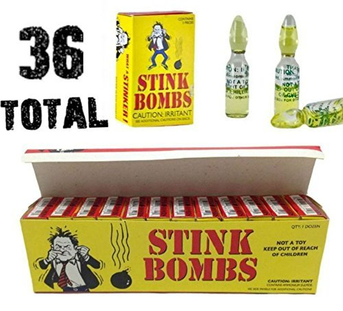 ((36) Stink Bombs - Stinky Glass Gag Prank Fart Joke (1 case of 36))