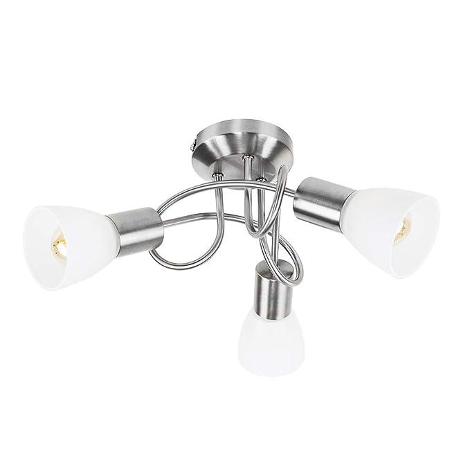 1 opinioni per MiniSun – Lampada da soffitto moderna e rotonda con 3 luci spot, una finitura