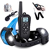 WDFZONE Dog Training Collar with Remote for 2 Dogs Waterproof Rechargeable Shock Collar with Remote for Small Medium Large Dogs