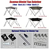 Seamax Bimini Top Solution for Inflatable Boat, Fiberglass Boat & Aluminum Boat