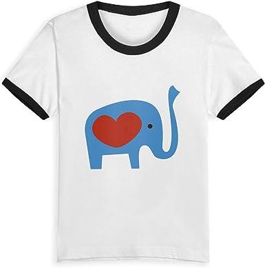 I Heart Tractor Unisex Youths Short Sleeve T-Shirt Kids T-Shirt Tops Black