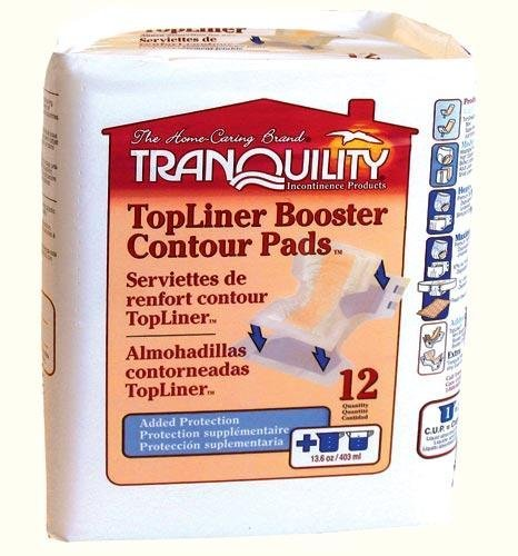 Tranquility TopLiner Contour Pads Moderate-Absorbency, 120/Bag (Pad Booster Top Liner)