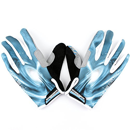 Meanhoo Non-Slip Gel Pad Gloves Men's Women's Sportswear Bike Bicycle Cycling Riding Short Full Finger Gloves Breathable Mesh blue with blue color