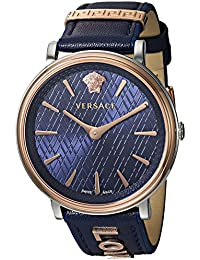 Women's 'THE MANIFESTO EDITION' Quartz Stainless Steel and Leather Casual Watch, Color Blue (Model: VBP090017)