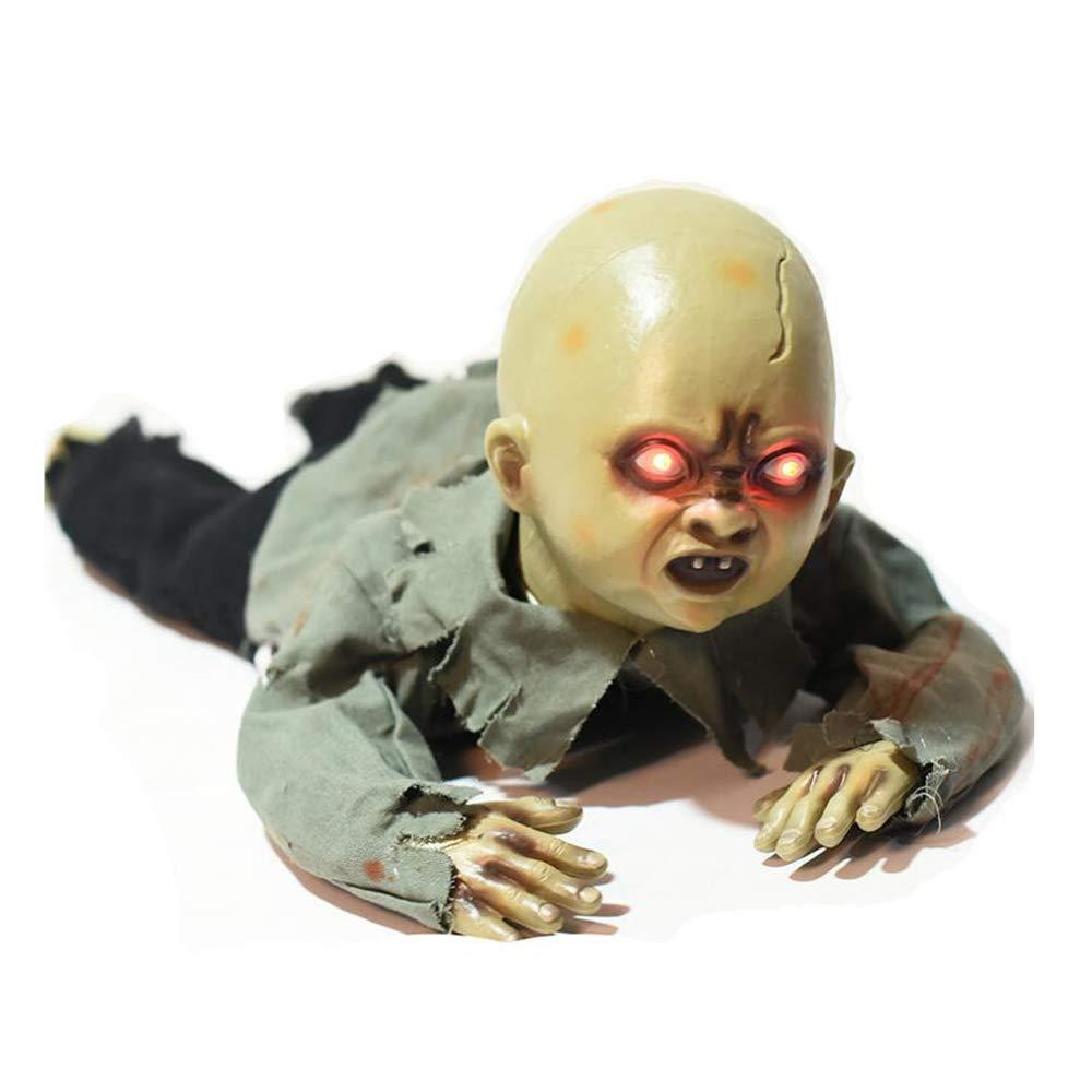 Halloween-Dekorationen BB Schleichende Ghost Halloween Prop Animierte Kriech Gespenst Mit Roten Augen Beängstigenden Sound und Bewegen Sich Für Escape Haunted House