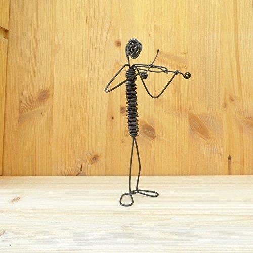 Violinist wire sculpture Handmade Handcrafted