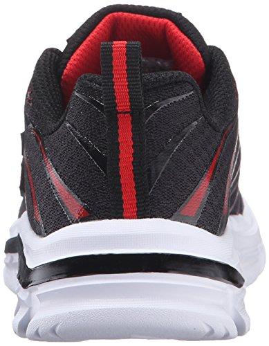 Skechers Meisjes Nitraat Sneaker, Houtskool / Zwart Zwart (zwart / Rood)