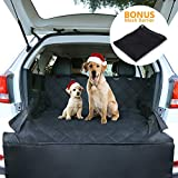 CCJK Pet Cargo Cover & Liner Dog, Waterproof Machine Washable & Nonslip Backing Free Pet Barrier Universal Fit Cars SUV Trucks,Underside Grip,Durable,Large Back Seat Cover Protector(Black,S)