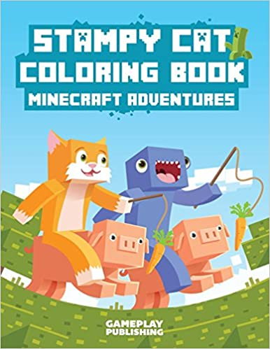 stampy cat coloring book minecraft adventures gameplay publishing minecraft library 9781508413776 amazoncom books