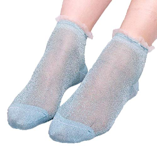 Socks, FORUU Sales 2019 Winter Warm Under 10 Best Gift Summer Women Ladies Sheer Silky Glitter Transparent Short Stockings Ankle -