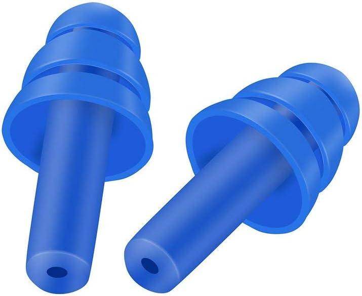 color: amarillo Un par de espirales Tapones para los o/ídos de silicona convenientes Tapones para los o/ídos que roncan contra el ruido C/ómodo para dormir Accesorio de reducci/ón de ruido