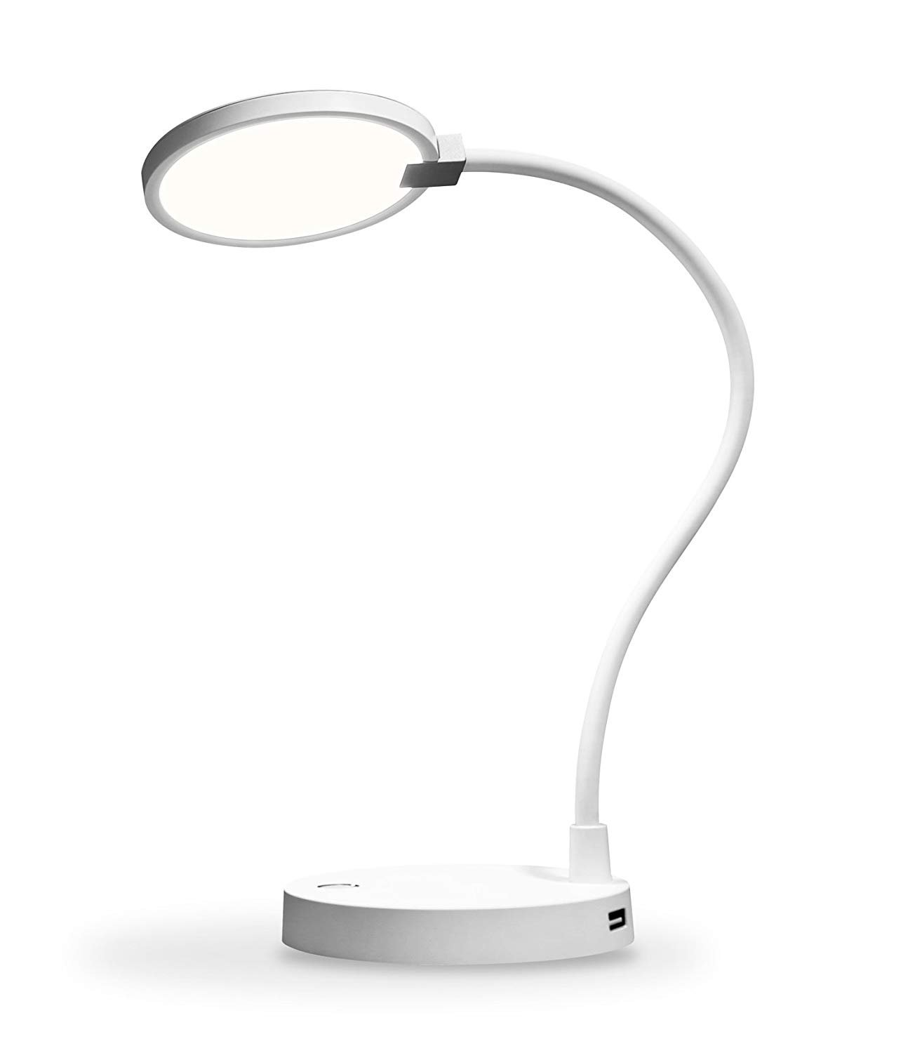 eeco Desk Lamp LED Table Light Dimmable with 4000mAh Power Bank and Two USB Charging Ports Bedside Light Flexible and Rechargeable Gooseneck with Touch Sensor Control Eye Care for Studying and Reading