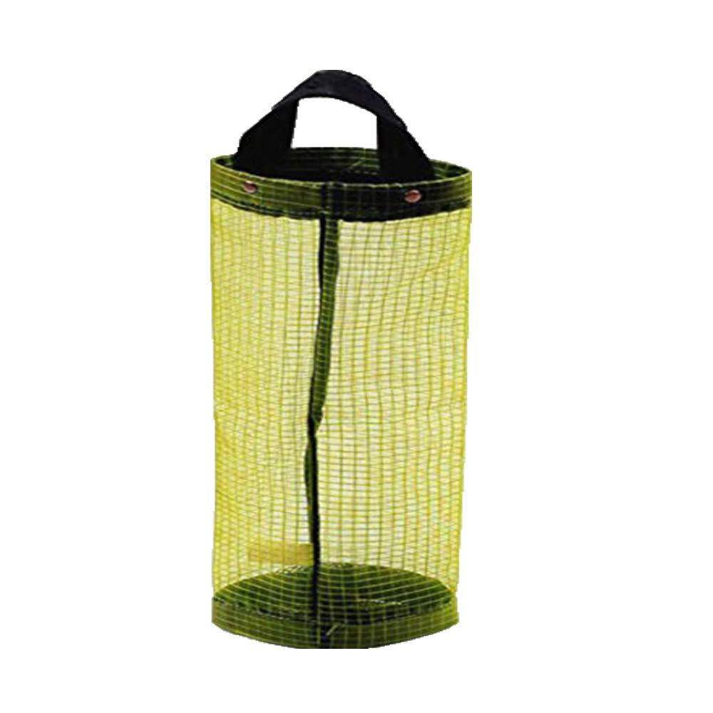 Cinhent Bag 1PC Long Home Grocery Bag Holder Wall Mount Storage Dispenser Hanging Plastic Bag Kitchen Handle Organizer, Simple Human (Yellow)