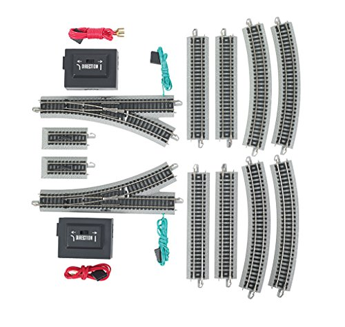 (Bachmann Expander Pack - Nickel Silver N Scale E-Z Track, Grey Roadbed)