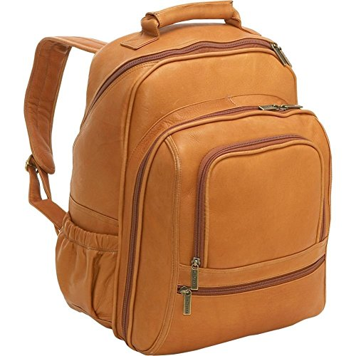 Le Donne Vaqueta Leather Large Computer Backpack, 15.4