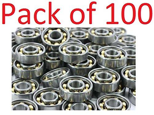 100 Skateboard Ball Bearings (VXB Pack of 100 Skate Bearing:Open VXB Brand inline Skate, Rollerblade, Skateboard)
