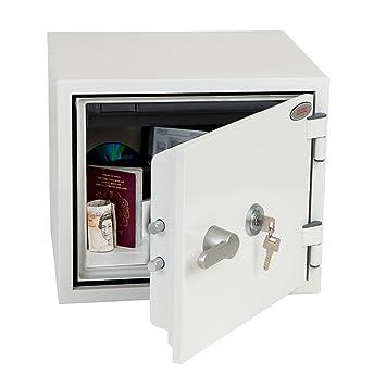 Phoenix FS1281K 19L Acero Blanco - Caja fuerte (Electrónico, 19 L, Acero, Blanco, 412 mm, 363 mm): Amazon.es: Hogar