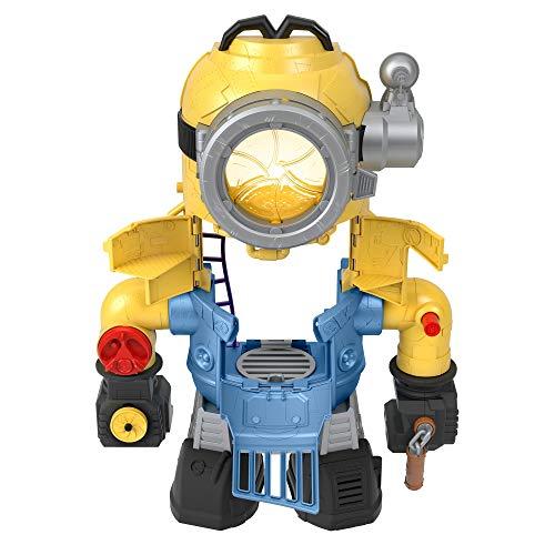 Fisher-Price Imaginext Minions MinionBot, robot y juego con acción de puñetazos y figura de Minion para niños en edad preescolar de 3 a 8 años