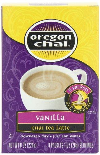 Chai Oregon Tea Vanilla - Kerry Oregan Chai Dry Mixes, Vanilla Dry, 8-Count Packages (Pack of 6)