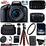 Canon EOS Rebel T7i DSLR Camera 18-55mm is STM Lens & 75-300mm III Lens + Flexible Tripod + UV Protection Filter + Professional Case + Card Reader - International Version