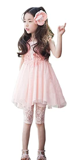 54e7bfc3d9a3 Amazon.com  Shiny Toddler 2015 Summer Little Girls Princess Lace ...