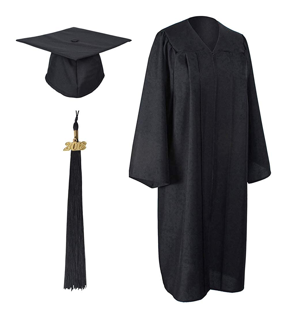 GraduationForYou Matte Graduation Gown Cap Tassel 2018 at Amazon ...