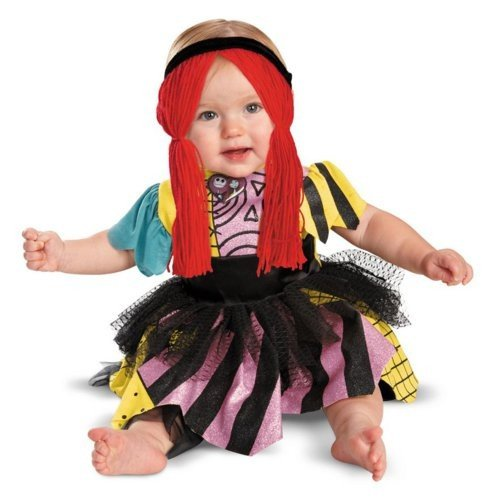 [Disguise Baby Girl's Disney Sally Prestige Costume, Pink/Yellow/Black/Red, 6-12 Months] (Sally Prestige Infant Costumes)
