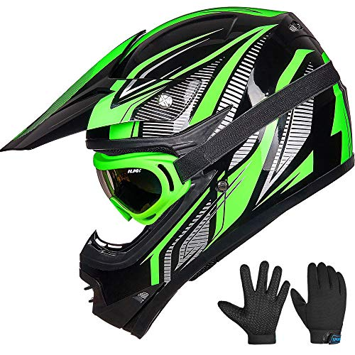 ILM Youth Kids ATV Motocross Dirt Bike Motorcycle BMX Downhill Off-Road MTB Mountain Bike Helmet DOT Approved (Youth-M