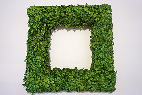 (Tradingsmith Preserved Boxwood Square Wreath 20 in)