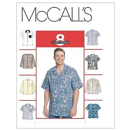 Amazon Mccalls Patterns M2149 Mens Shirts Size L Xl Arts