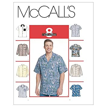 9db3d577fc28e7 Amazon.com: McCall's Patterns M2149 Men's Shirts, Size L-XL: Arts, Crafts &  Sewing
