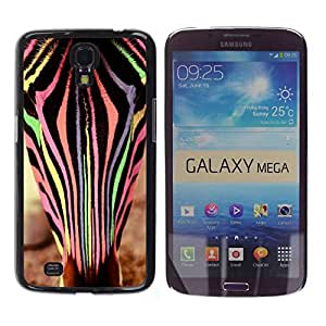 Paccase / SLIM PC / Aliminium Casa Carcasa Funda Case Cover para - Zebra Animal Colors Vet Cute - Samsung Galaxy Mega 6.3 I9200 SGH-i527