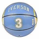 Spalding Denver Nuggets Allen Iverson Under Glass #3 Jersey Basketball