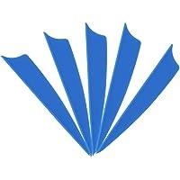 MILAEM Tiro con Arco Pluma de 1.75 Pulgadas /2 Pulgadas/2.5 Pulgadas/3 Pulgadas Plumas de Caucho para Flechas (100…
