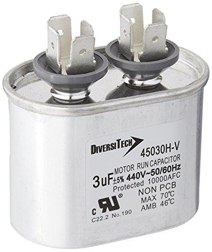 Diversitech 45030H Mtr. Run Cap, Oval, 3uf 440v