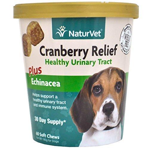 NaturVet Cranberry Relief Plus Echianecea Soft Chew 60ct (2 Pack)