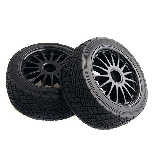 WR8 Tarmac Wheel With Tires For HPI Rally Off-Road WR8 Tyres Pack Of 4 Black