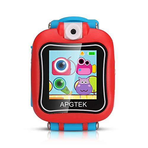 Reloj Inteligente para Niños, AGPTEK Kid Game Smartwatch con Pantalla Táctil, Camara, Grabador de Video o Voz, Juegos, Temporizador Rojo