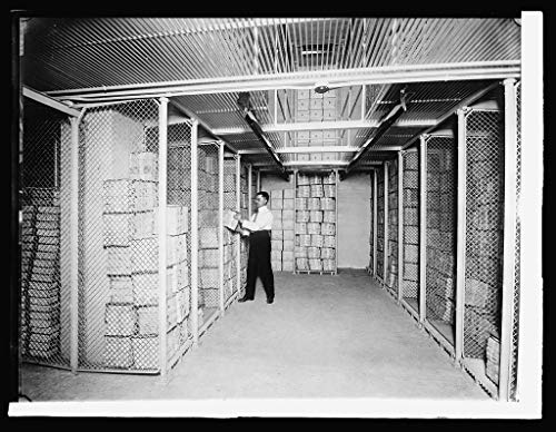 - Vintography Reproduced 16 x 20 Photo of: Bureau Printing & Eng.: Section of Postage Stamp Vault: 1,500,000,000 Stamps stored here, 1914 1914 National Photo Company
