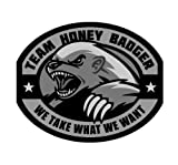 Team Honey Badger Vinyl Decal (SWAT (Black))